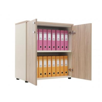 Шкаф NW 0880 закрытый вяз натуральный / бежевый